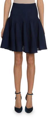 Givenchy Sculpted Scuba Jersey Drop-Waist Skirt