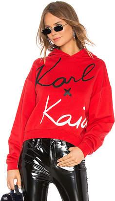 Karl Lagerfeld Paris X KAIA Cropped Sweatshirt