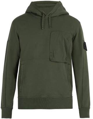 Stone Island Shadow Project - Shadow Project Cotton Jersey Hooded Sweatshirt - Mens - Khaki