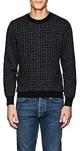 Givenchy Men's Logo-Jacquard Wool Sweater-Black