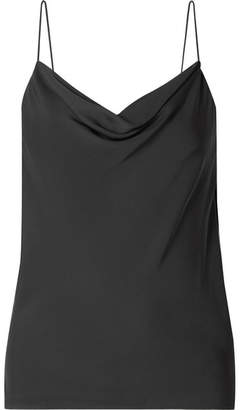 Theory Draped Silk Crepe De Chine Camisole - Black