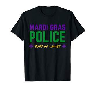 Mardi Gras Police Tops Up Ladies Funny Mardi Gras T-Shirt