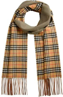Burberry double faced check scarf