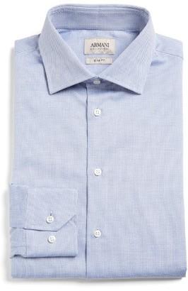 Men's Armani Collezioni Slim Fit Tonal Diamond Dress Shirt $295 thestylecure.com