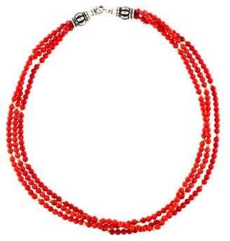 Lagos Coral Caviar Beaded Necklace