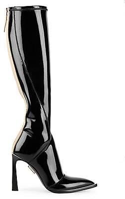 Fendi Women's Patent Neoprene Tall Boots