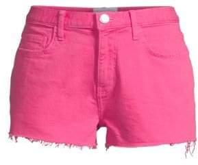 Current/Elliott High-Rise Raw Hem Denim Boyfriend Shorts