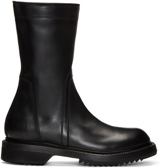 Rick Owens Black Creeper Boots $1,600 thestylecure.com