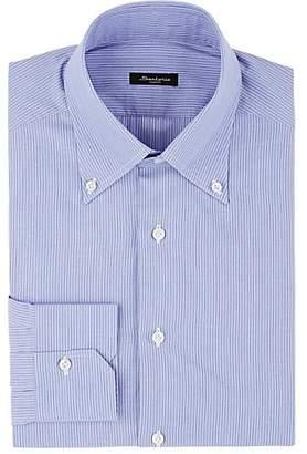 Sartorio Men's Striped Cotton Button-Down Dress Shirt - Lt. Blue