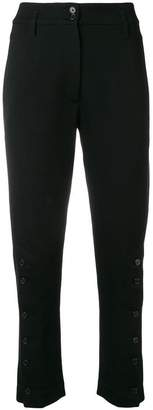 Ann Demeulemeester button trim cropped trousers