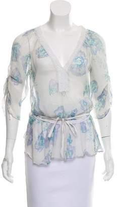 Rebecca Taylor Printed Silk Top