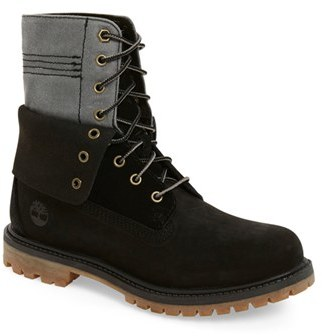 Timberland 'Doublefold' Canvas Boot (Women) $129.95 thestylecure.com