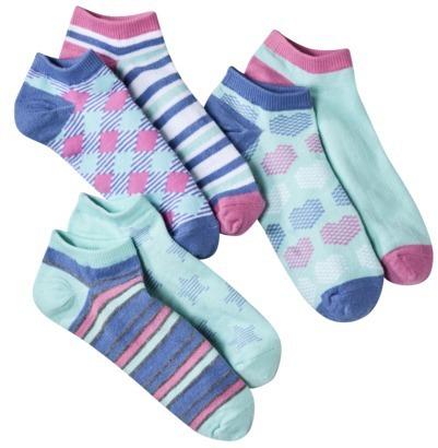 Xhilaration Juniors 6 Single Low Cut Mix and Match Socks - Assorted Colors/Patterns