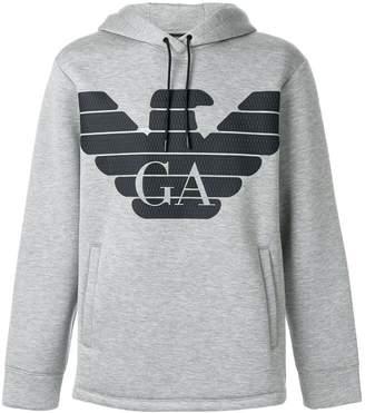 Emporio Armani slouchy logo hoodie