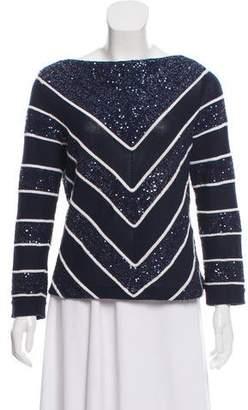 Oscar de la Renta Sequin-Embellished Sweater