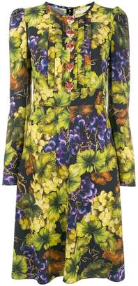 Dolce & Gabbana grape print midi dress