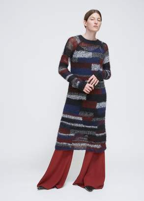 Rosetta Getty Patchwork Gauze Sweater Dress