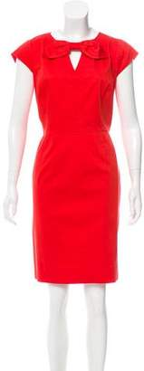 Tahari Arthur S. Levine Bow-Accented Knee-Length Dress