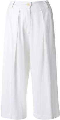 Isabel Benenato wide leg cropped trousers