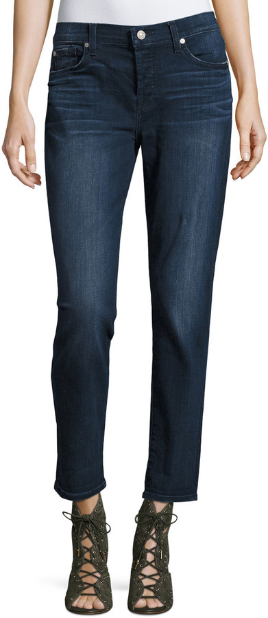 7 For All Mankind 7 For All Mankind Josefina Skinny Boyfriend Jeans, Dark Blue
