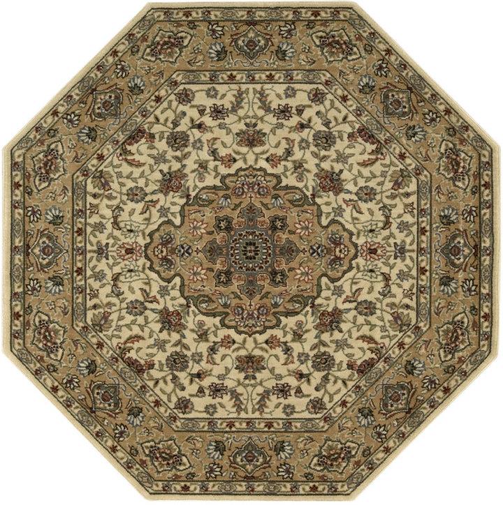 "Nourison MANUFACTURER'S Area Rug, Persian Arts BD02 Ivory/Gold 7' 9"" Octagon"