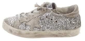 Golden Goose Girls' Distressed Glitter Sneakers
