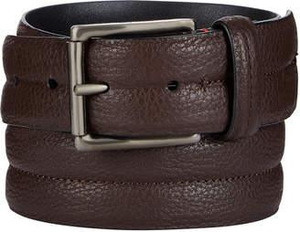 Calvin Klein Men's Pebble Leather Domed Belt