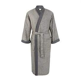 Calvin Klein Acacia Texture Grey Bathrobe