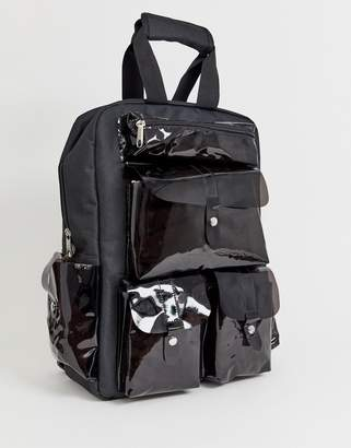 0d25b200b560e clear 7x SVNX black backpack with plastic pockets