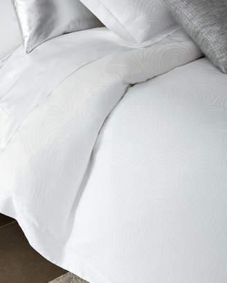 Sferra King Winter White Scroll Duvet Cover