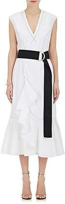 Derek Lam 10 Crosby Women's Cascading-Ruffle Cotton Dress $395 thestylecure.com