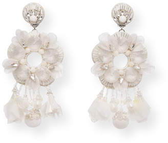 Ranjana Khan Noemie Beaded Statement Clip-On Earrings