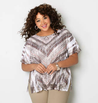Avenue Tribal Chevron Lace Poncho