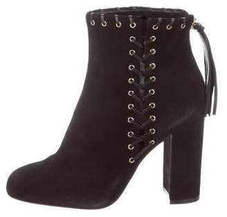 Karl Lagerfeld Paris Suede Ankle Boots