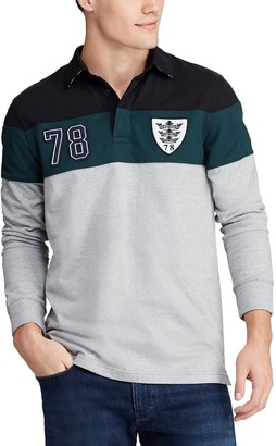 Chaps Men's Classic-Fit Colorblock Rugby Polo