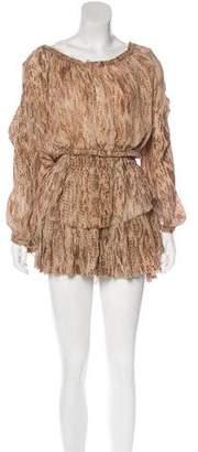 LoveShackFancy Printed Silk Skirt Set