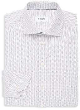 Eton Slim Fit Dotted Cotton Button-Down Shirt