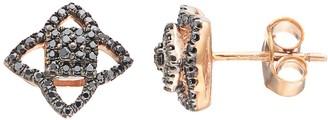 Black Diamond Kohl's 14k Rose Gold 1/4 Carat T.W. Star Stud Earrings