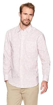 Isle Bay Linens Men's Long Sleeve Paisley Prints Standard Woven Hawaiian Shirt XL