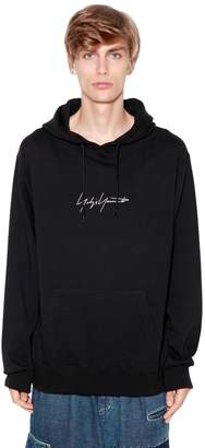 Yohji Yamamoto New Era Embroidered Jersey Sweatshirt