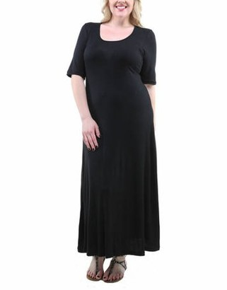 24/7 Comfort Apparel Women's Plus Size Maxi Dress