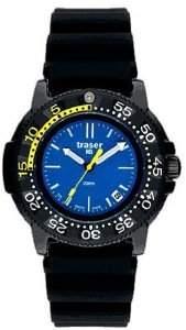 Traser Men's P6504.93C.6E.03 Rubber Quartz Watch with Blue Dial