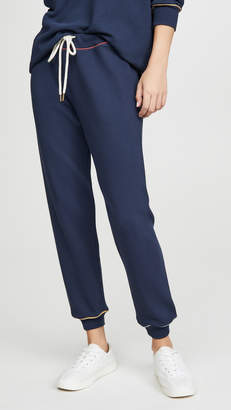 The Great The Cropped Sweatpants With Multi Piping
