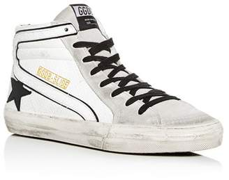 Golden Goose Men's Distressed Leather High-Top Sneakers