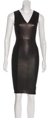 Robert Rodriguez Leather Sheath Dress w/ Tags