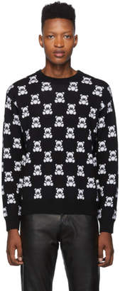 Moschino Black All Over Teddy Crewneck Sweater