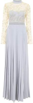 Self-Portrait Self Portrait Maxi Dress With Lace And Pearls
