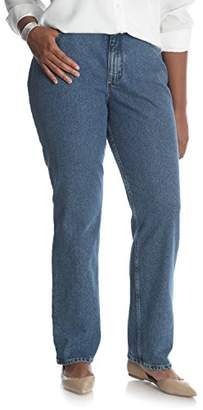 Lee Indigo Women's Plus Size Camden Relaxed Fit 5 Pocket Jean