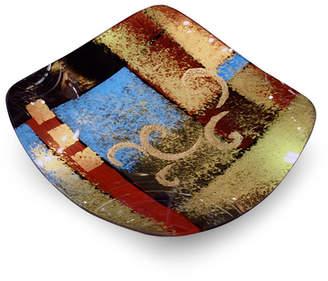 """Jasmine Art Glass 13"""" x 13"""" Square Plate"""