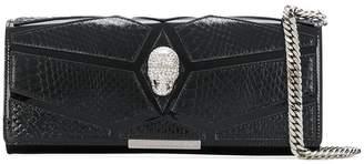 Philipp Plein panelled skull chain wallet